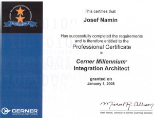 Josef Namin 2008 IntegrationArchitectCertification