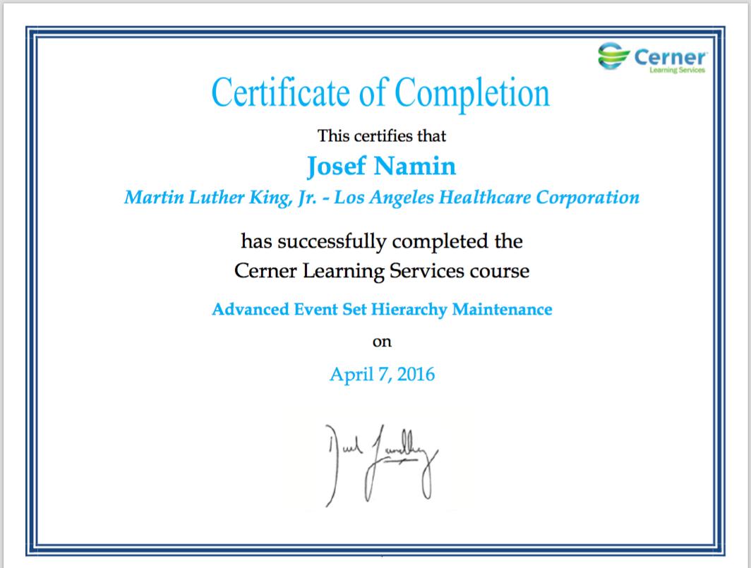 Josef namins certifications v1 apexch josef namin 2016 advanced event set hierarchy certification xflitez Images